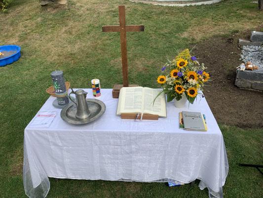 1. Taufe im Garten