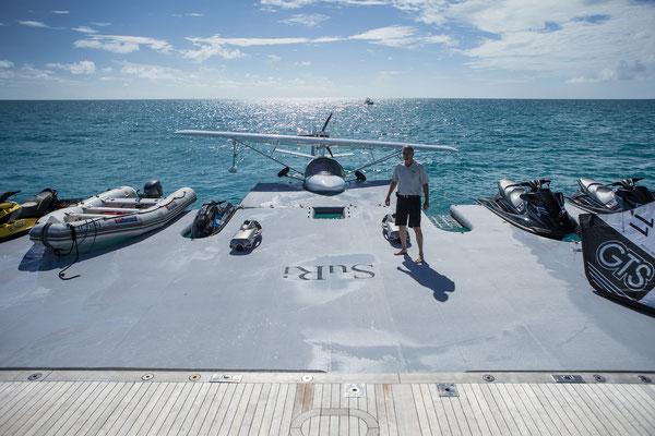 Superyacht custom inflatable dock www.marinestore.eu