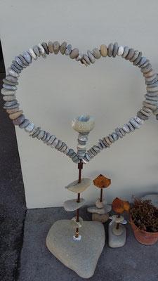 Steinformen mit Kerze ca. Fr. 160.- bis Fr. 195.-