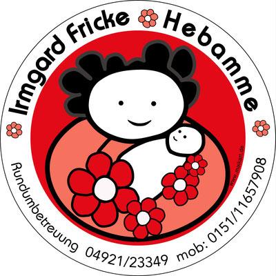 Logoentwicklung, Drucksachengestaltung, Hebamme Irmgard Fricke, Emden