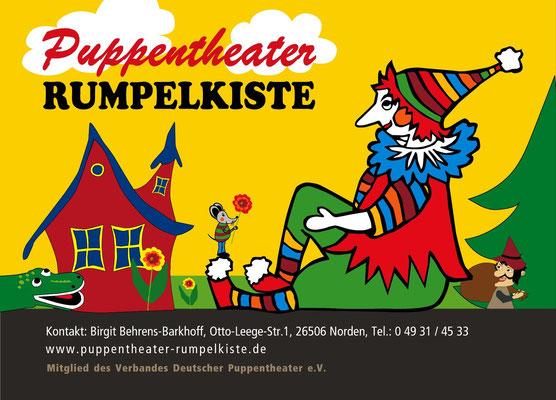 Design Logo, Plakate, Drucksachen, Web, Puppentheater Rumpelkiste Norden
