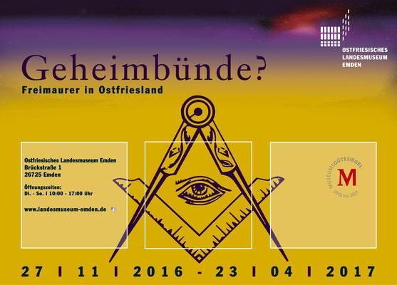 """Gestaltung Drucksachen, Ausstellung """"Geheimbünde?"""", Ostfriesisches Landesmuseum Emden"""