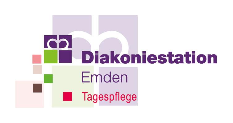Logo- und CD-Entwicklung, Drucksachengestaltung, Diakoniestation Emden, Tagespflege