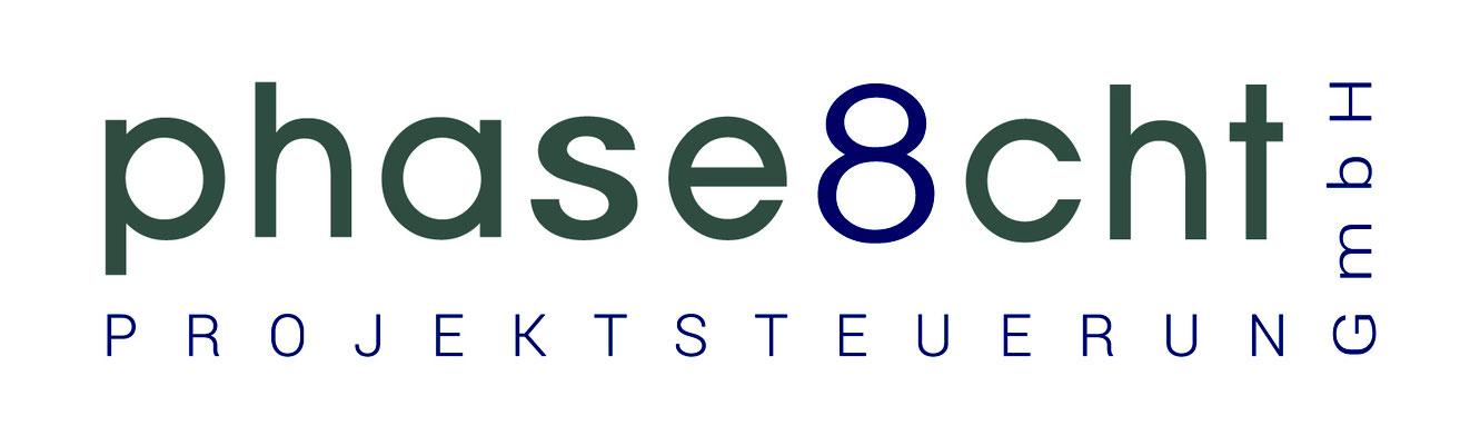 Logodesign, phaseacht Projektsteuerung GmbH