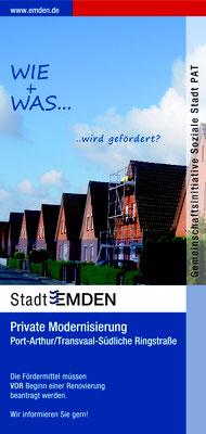 Gestaltung Flyer, Stadt Emden
