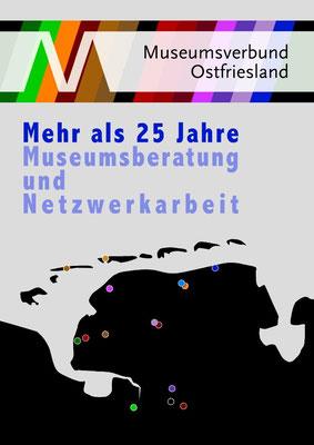 Drucksachengestaltung, 25 Jahre Museumsverbund Ostfriesland