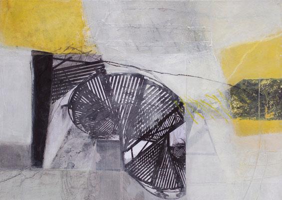 Collage/Acryl auf Leinwand, 50 x 70 cm