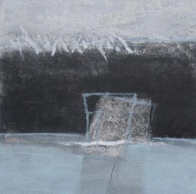Portae 1-5, Pigmente, Acryl auf Leinwand, 50 x 50 cm