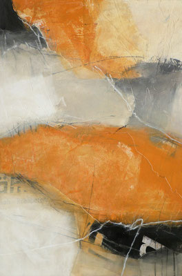 Collage/Acryl auf Leinwand, 80 x 120 cm