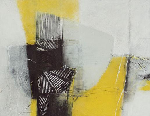 Collage/Acryl auf Leinwand, 70 x 80 cm