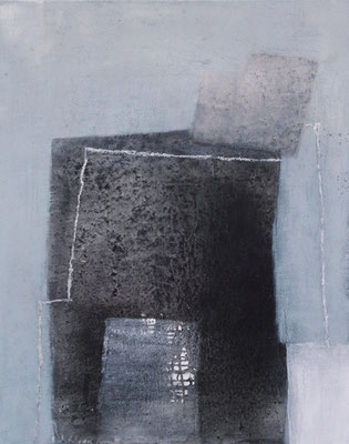 Portae 1-5, Pigmente, Acryl auf Leinwand, 80 x 100 cm