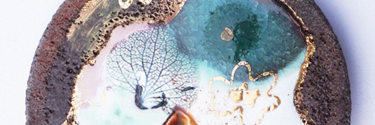 bijoux lave émaillée