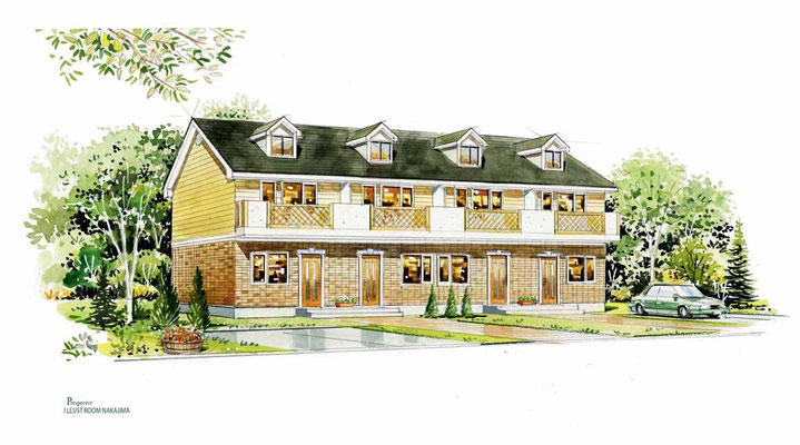 建築パース                               集合住宅1