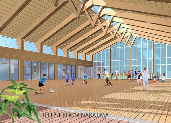 建築パース         スポーツ施設1
