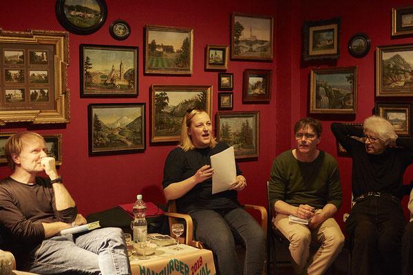Leseclub mit Jochen Schmidt (Autor) und Antje Flemming (Moderation), Foto: Sophie Daum
