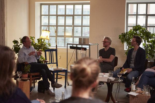 Leseclub mit Stephan Orth (Autor) und Daniel Beskos (Moderation), Foto: Sophie Daum