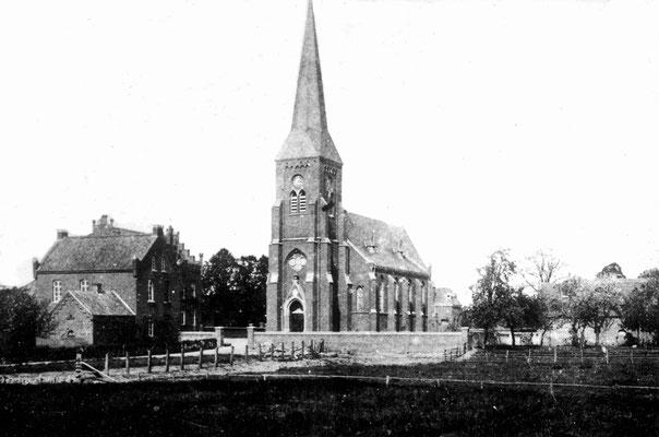 Kirche nach der Umbau/Erweiterung im Jahr 1895/96