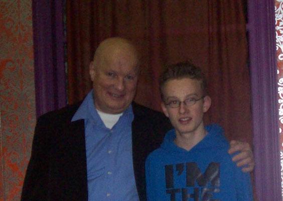 Marco van der Veen met Paul van Soest alias Handige Harry.