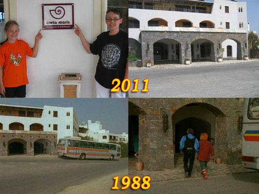 Niels Ronhaar en zijn zusje Femke zijn met hun ouders op vakantie geweest in Griekenland. Hier staan ze op het eiland Kreta bij hotel 'Creta Maris'. Dat is hetzelfde hotel waar Bassie en Adriaan sliepen in de serie 'De Verzonken stad'.