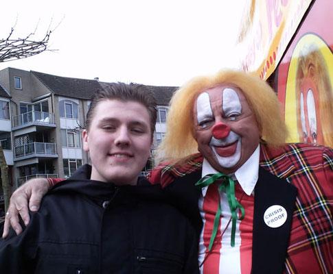 Remco de Graaf uit Houten op 14 maart 2010 met Bassie.