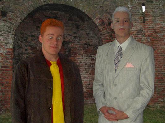 Calvin Visee en Sergei Albronda als De Baron en Vlugge Japie