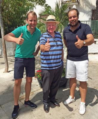 Thomas en Vincent tijdens een meet en greet in Spanje!