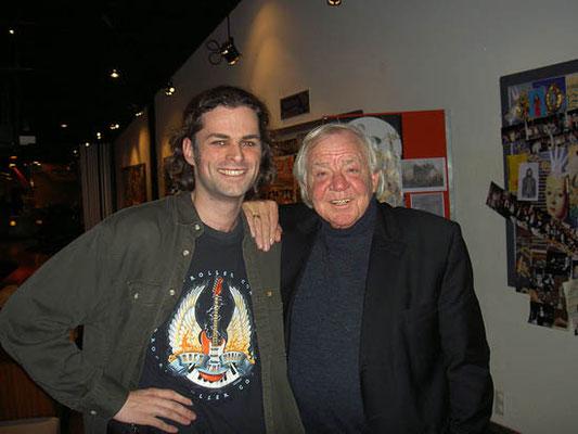 Rutger Raateland in 2005, na zijn optreden in de musical 'Fulco de Minstreel', met Adriaan.