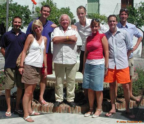 7 Fans waren op vakantie in Benidorm. Ze hadden het ervoor over om ruim 500 kilometer heen en 500 kilometer terug te rijden om Adriaan te ontmoeten in Benalmádena.
