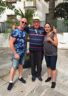 Jordy en Jennifer tijdens een meet en greet in Spanje!