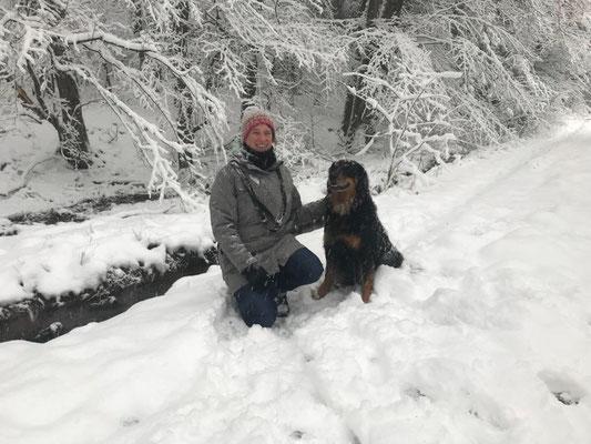 Sabine mit Annabelle vom Silberdistelwald