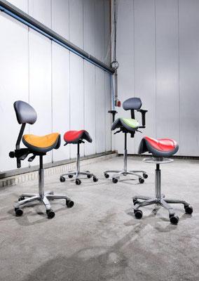 Auswahl von Sattelstühlen