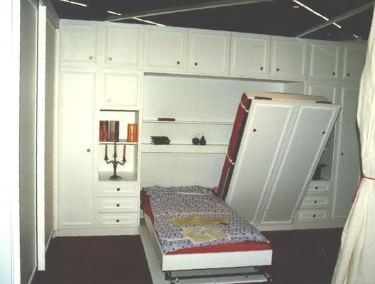 Schrankwand mit Doppelklappbett