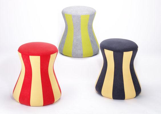 Sitzkissen für den Med.- und Jugendbereich in Streifen oder Vollstoffbespannung