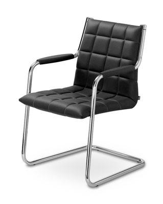 Besucherstuhl mit exzellenter Sitzeigenschaft in Stoff oder Leder
