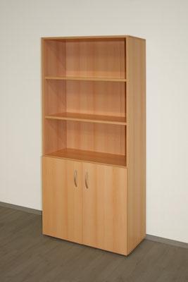 Bücher-Aktenschrank 5 OH 800x1875x420mm - lieferbar in: weiß, weißgrau, lichtgrau, beige(Vanille, Ahorn, Akazie, Buche, Kirsche // ab € 311.--
