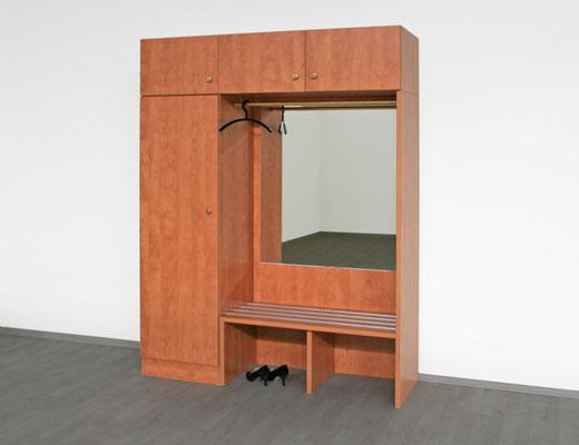 Garderobenteilmit Spiegel und Sitzbank