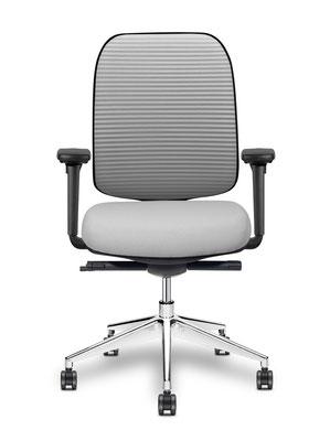 Hochwertiger Bürodrehstuhl mit festen Rücken – auch mit anknöpfbaren Sitzbezug lieferbar-