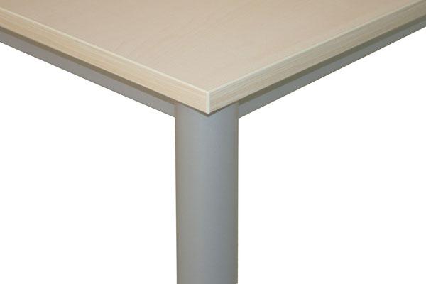 Tisch 800x800x735 Beine rund 60mm - lieferbar in: weiß, weißgrau, lichtgrau, beige (Vanille), Ahorn, Akazie, Buche, Kirsche //ab € 163.--