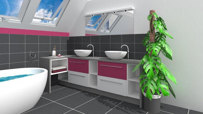 Individuelle Waschtischkombination nach Kundenwunsch - Lieferbar in jeder anderen Abmessung, Ausführung und Oberfläche