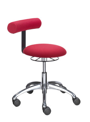 Sitzmobil mit runder Sitzfläche und Rückenlehne