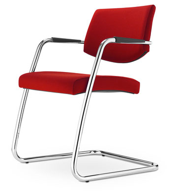 Preisgünstiger hochwertiger Wartezimmerstuhl mit Rücken in Transparent, Netz oder Vollpolster – mit Vollpolsterrücken