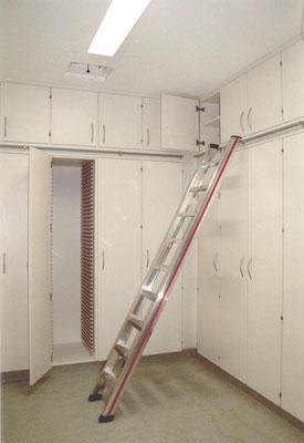 Schranksystem mit Leiteranlage