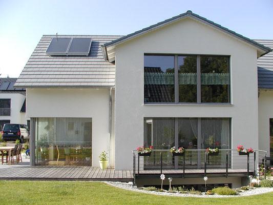 Passivhaus Schweinfurt - Süd-Ansicht