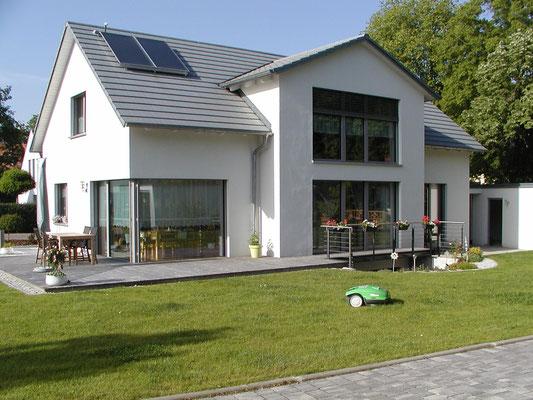 Passivhaus Schweinfurt - Südwest-Ansicht