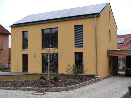 Passivhaus Kürnach- Südwest-Ansicht