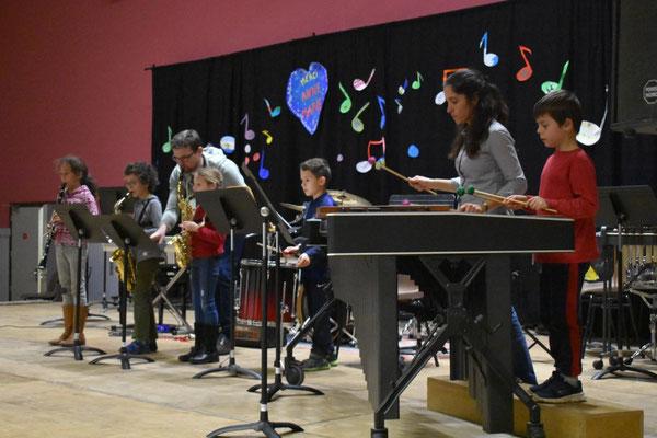 Saxophones - percussions