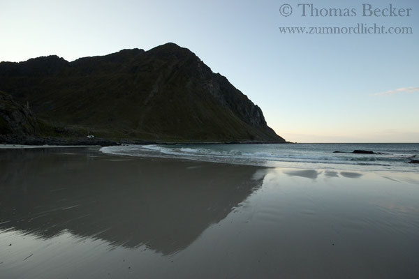 Der Strand von Storsandnes.