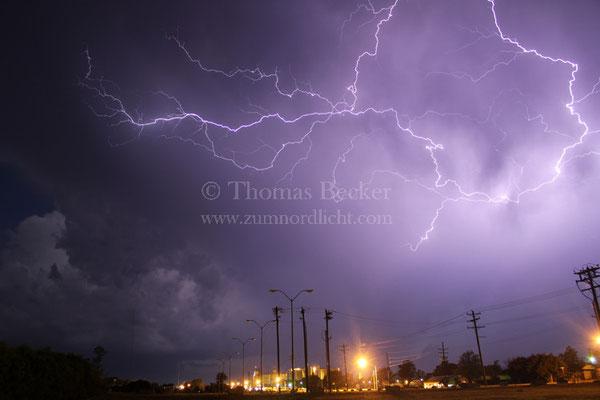 Wolkenblitze über dem US-Bundesstaat Oklahoma - G26