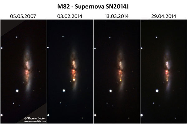 Galaxie M82 mit Supernova SN2014J - A45