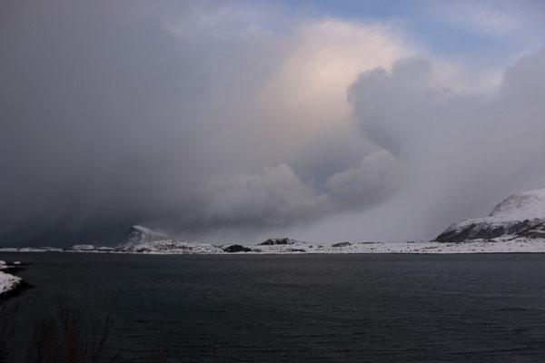 Stürmische Wolkenformationen